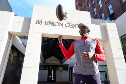 <strong>Memphis Express president Kosha Irby and his football office signed a lease for the third floor of Downtown's 88 Union Building.</strong> (Tom Bailey/Daily Memphian file)