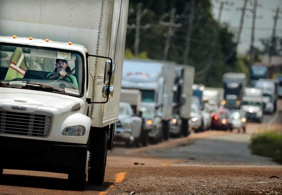 <strong>The upgrades planned for Lamar Avenue are meant to ease traffic flow and improve freight movement through one of Memphis' most congested corridors for trucks and passenger vehicles.</strong> (Jim Weber/Daily Memphian file)