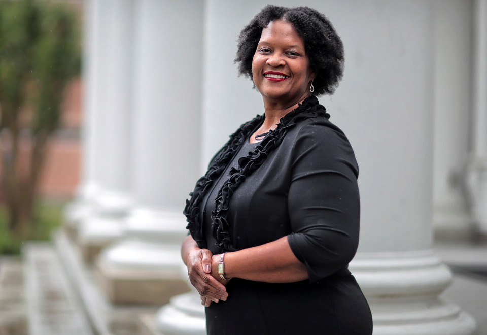 "<strong>On the eve of graduation from LeMoyne-Owen College, Alison Turner, 59, said the prospect of moving forward with this milestone in life is still nerve-wracking, even after several decades as a mother, wife and professional. ""It's exciting. It may be scary. I'm not trying to look at the scary part. Right now, it's exciting and it's interesting,"" said Turner, who was receiving an associate degree and two bachelor's degrees.</strong> (Jim Weber/Daily Memphian)"