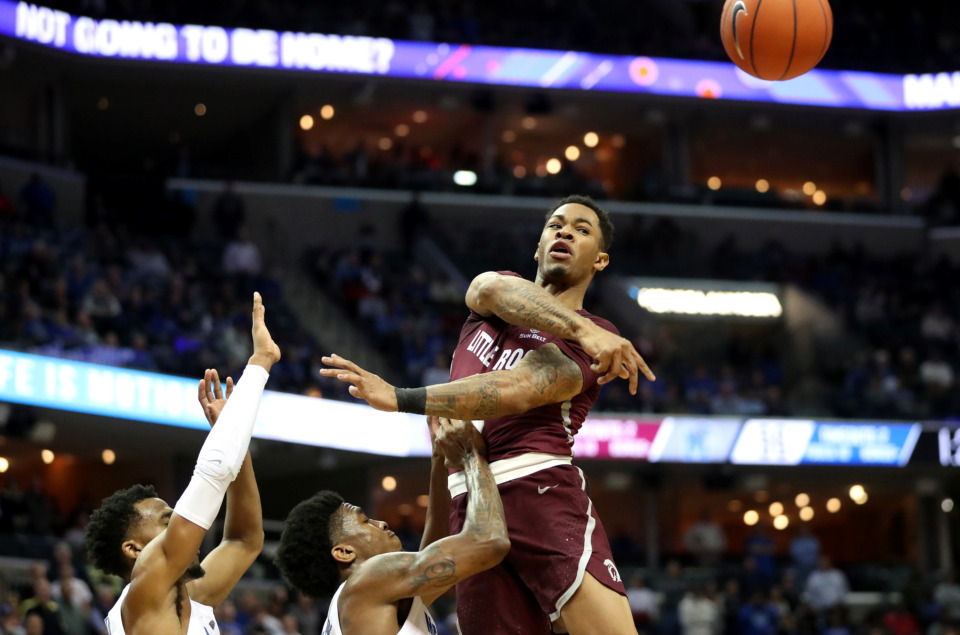 <strong>Former Little Rock guard Rayjon Tucker on Saturday, May 11, committed to the University of Memphis.</strong> (Houston Cofield/Daily Memphian file)