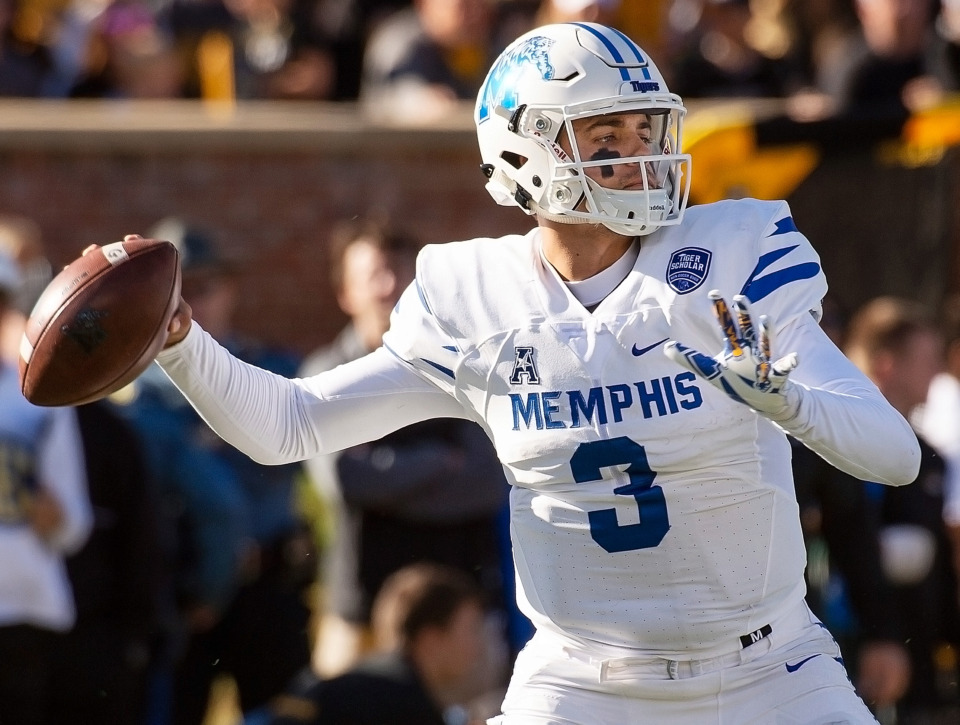 <strong>University of Memphis quarterback Brady White has received one more season of eligibility.&nbsp;</strong>(AP Photo/L.G. Patterson)