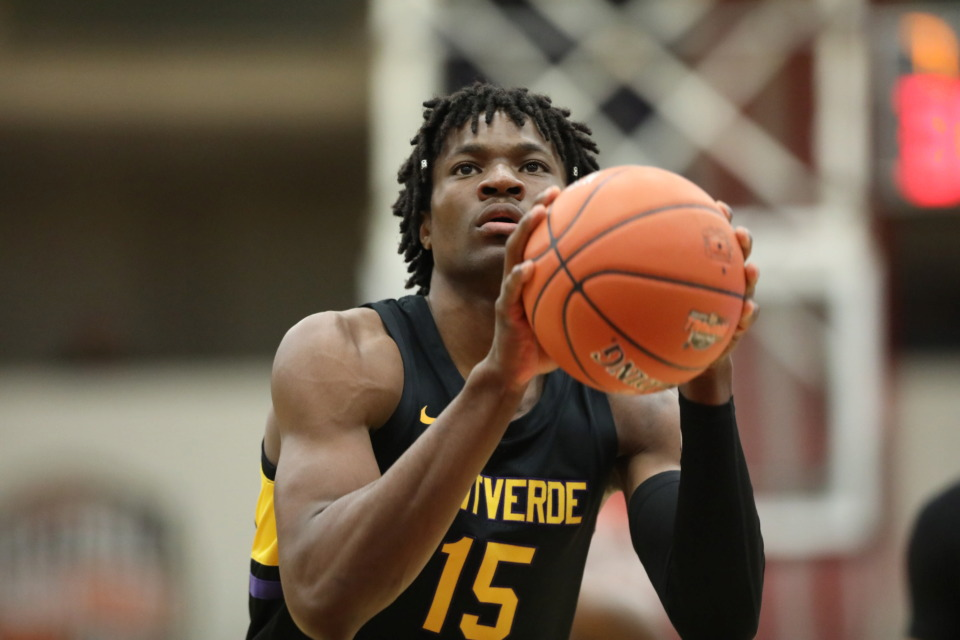 "<p class=""regdt""><strong>Montverde Academy's Precious Achiuwa shoots a free throw against Holy Spirit during a high school basketball game at the 2019 Hoophall Classic in January in Springfield, Mass.</strong> (AP Photo/Gregory Payan)"