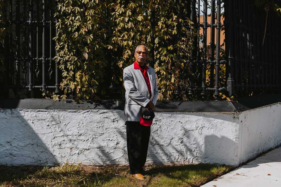 <strong>Memphis Lynching Sites Project executive director John Ashworth stands near the most recent historical marker placed in downtown Memphis. The marker  near the corner of A.W. Willis and Front Street describes the lynching of Lee Walker in 1893.</strong> (Houston Cofield/Daily Memphian)