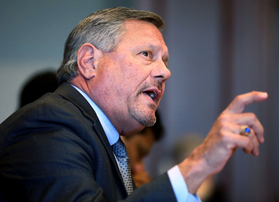 <strong>Former University of Memphis athletic director Tom Bowen resigned four days after university officials received a letter citing flirtatious behavior on a women's basketball road trip.&nbsp;</strong>(Houston Cofield/Daily Memphian file)