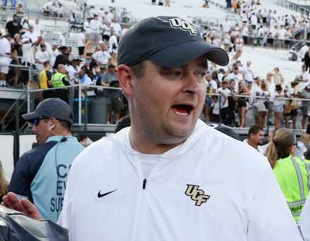 "<span><strong>Central Florida head coach Josh Heupel leaves the field after defeating Pittsburgh in an NCAA college football game, in Orlando, Fla., on Sept. 29, 2018. No. 12 UCF feels criticism of its schedule is invalid and that the American Athletic Conference is proving that as the season progresses. ""We're going into week five. People are going to get a chance to watch us as we go down the road,'' coach Josh Heupel said, responding to whether he believes he should lobby for a higher ranking on behalf of the defending AAC champions.</strong> (AP Photo/John Raoux)</span>"