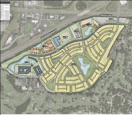 <strong>This 179-acre mixed-use plan next to Colonial Country Club in Cordova includes one of the largest residential developments in the last 40 years in Memphis.</strong> (Photo courtesy of Office of Planning & Development)