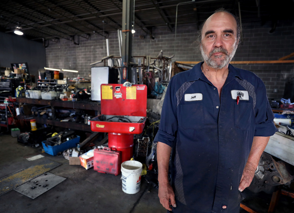 <strong>Jeff Long, owner of Powerhouse Motors, has until the end of June to move out &ldquo;23 years of stuff&rdquo; from the car-repair shop at 251 Union. The building he leases is one of a number of structures that will be demolished as early as July for Phase 1 of the $950 million mixed-use Union Row development.&nbsp;The shop is relocating to 500 N. Hollywood near the Broad Avenue Arts District.&nbsp;</strong>(Patrick Lantrip/Daily Memphia