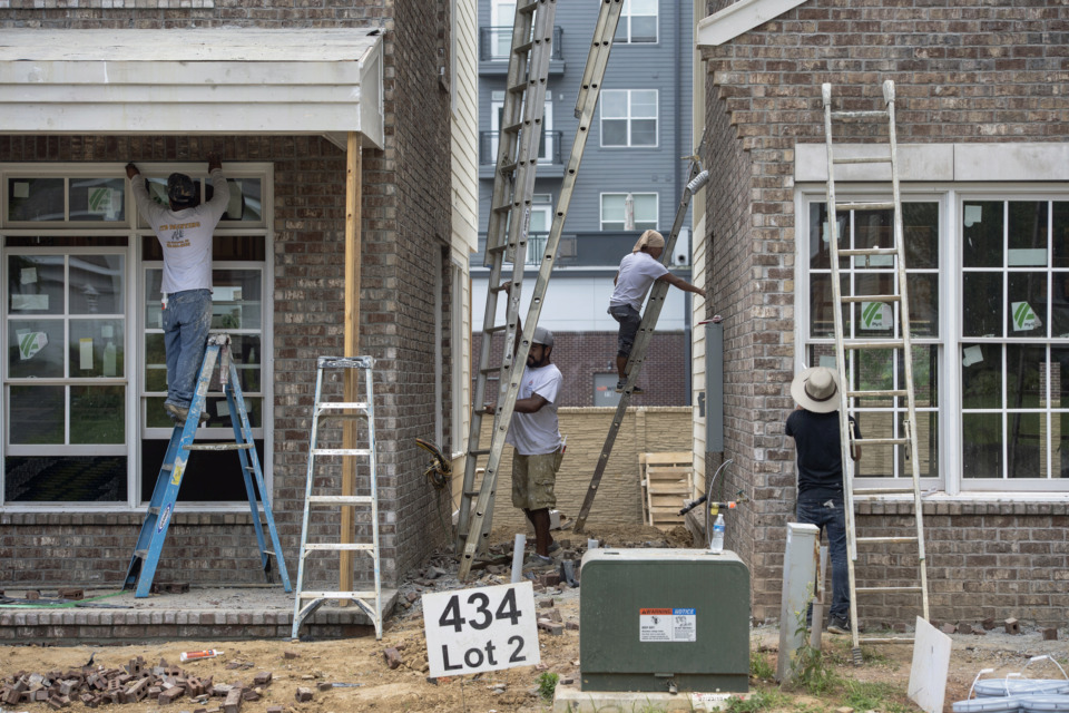 <strong>Work continues at the Ellsworth Place development near the University of Memphis.</strong> (Brandon Dill/Special to The Daily Memphian)
