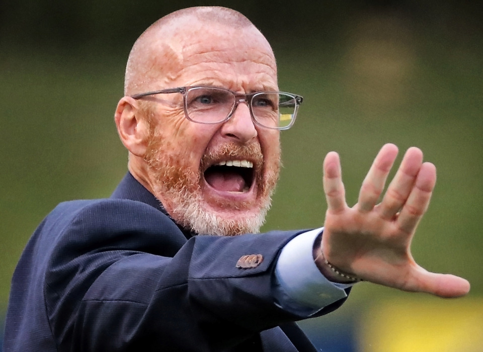 <strong>Memphis coach Tim Mulqueen disputes a call during 901 FC's third-round win over the Hartford Athletic during their Lamar Hunt U.S. Open Cup tournament game at the Mike Rose Soccer Complex on May 29, 2019. Memphis marked its fifth straight victory with the 4-0 win.</strong>&nbsp;(Jim Weber/Daily Memphian)