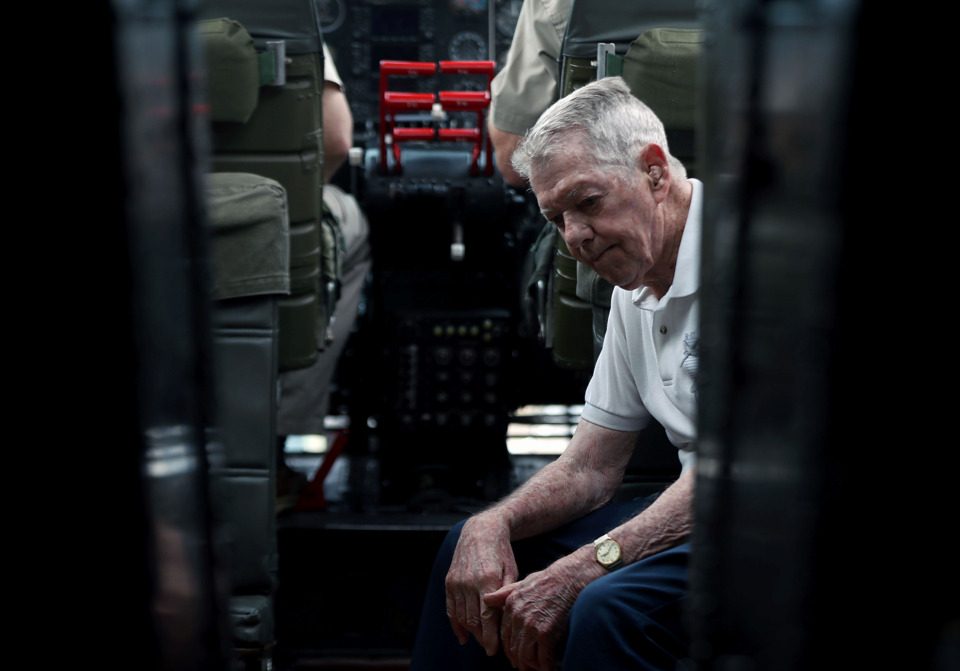 <strong>World War II veteran Garrett J. Williamson flew in 29 missions as a B-17 flight engineer in the European theatre, losing many brothers in arms along the way.</strong> (Patrick Lantrip/Daily Memphian)