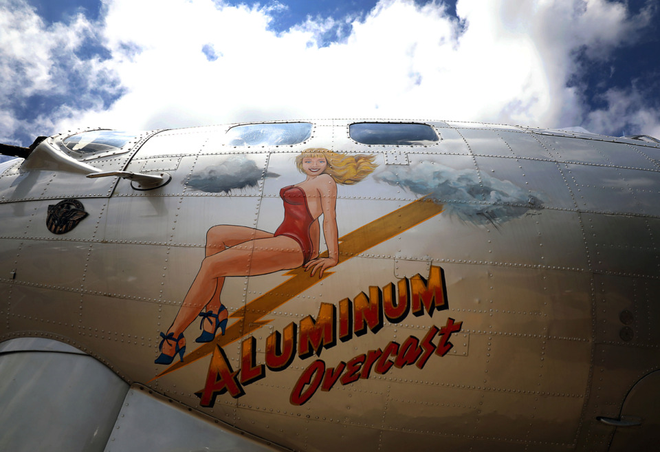 <strong>The Aluminum Overcast's artwork resembles that of the Memphis Belle, its sister aircraft and one of the most famous planes of the era.</strong> (Patrick Lantrip/Daily Memphian)