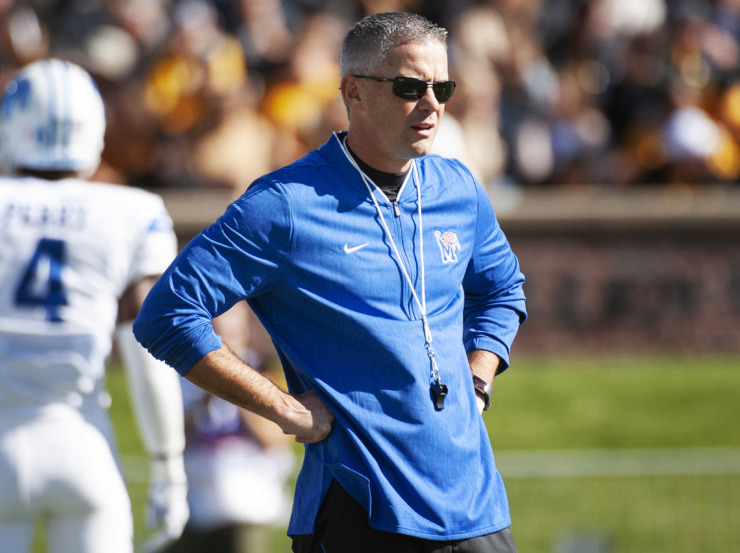 <strong>Memphis Tigers coach Mike Norvell has landed a commitment from running back Kalyn Grandberry. The former Raleigh-Egypt High standout currently plays for&nbsp;Jones County Junior College in Ellisville, Mississippi.</strong> (AP file photo/L.G. Patterson)