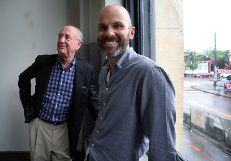 <strong>Henry Turley (left) and McLean Wilson (right) are hoping that the new Central Station redevelopment will strengthen the growing South Main and South City areas of Downtown.</strong> (Patrick Lantrip/Daily Memphian)