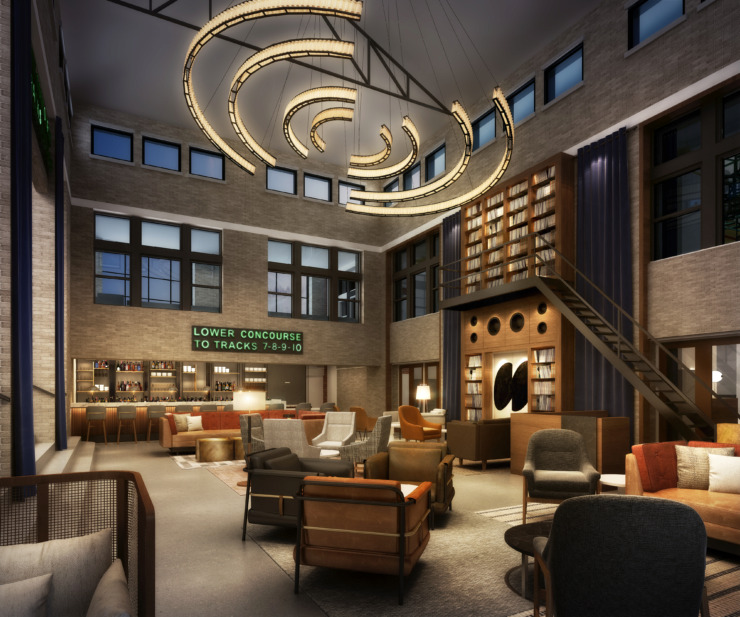 "<p class=""p1""><strong>Rendering of The Central Station Hotel bar.</strong> (<span>Looney &amp; Associates)</span>"