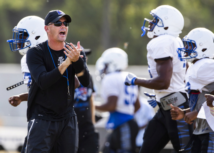 <strong>Memphis head coach Mike Norvell added another receiver to his class of 2020 with a commitment from Kobe Webster, a rising senior at Texas High in Texarkana, Texas.&nbsp;</strong>(Houston Cofield/Daily Memphian file)