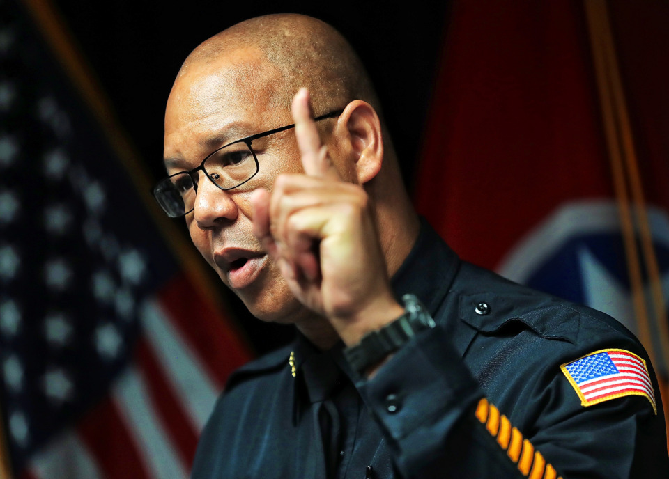 <strong>&ldquo;Our number one priority is protection of life. Everything else is secondary,&rdquo; Memphis Police Director Michael Rallings said during a Tuesday, June 18, 2019,&nbsp; press conference addressing the events that followed a fatal officer-involved shooting in Frayser on June 12.</strong> (Jim Weber/Daily Memphian)