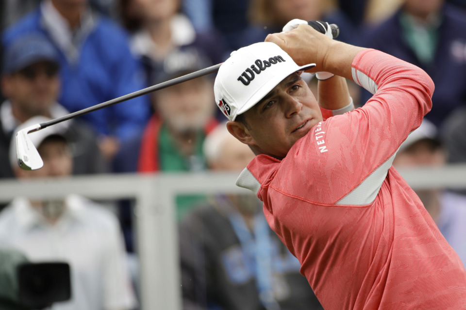 <strong>Gary Woodland watches his tee shot on the first hole during the final round of the U.S. Open Championship golf tournament Sunday, June 16, 2019, in Pebble Beach, Calif.</strong> (Marcio Jose Sanchez/Associated Press)