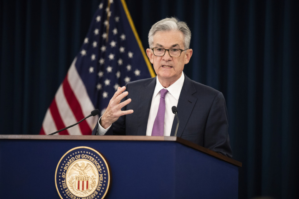<strong>Federal Reserve Chairman Jerome Powell speaks during a news conference following a two-day Federal Open Market Committee meeting in Washington, Wednesday, June 19, 2019.</strong> (AP Photo/Manuel Balce Ceneta)