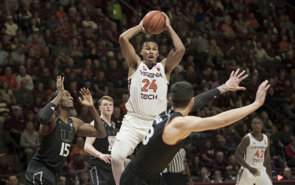 <strong>Virginia Tech forward Kerry Blackshear (24) is not considering Memphis among his graduate transfer options, according to his&nbsp;former AAU coach Willie Anderson.&nbsp;</strong>(AP Photo/Lee Luther Jr.)