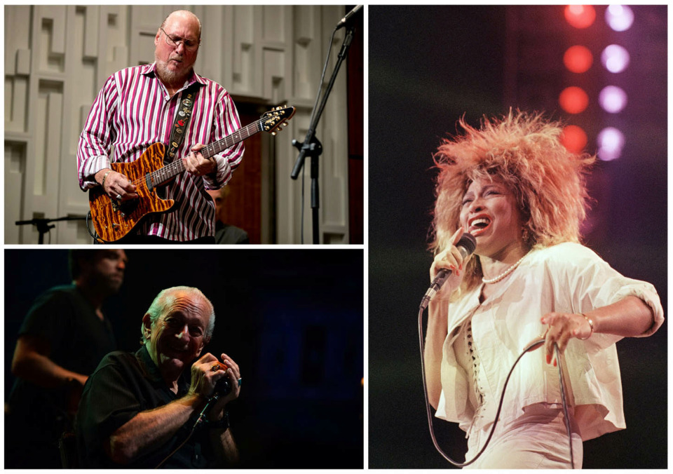 <strong>The list of musicians to be inducted in the Memphis Music Hall of Fame includes Steve Cropper (clockwise from top left), Tina Turner and Charlie Musselwhite.</strong> (Associated Press file photos)