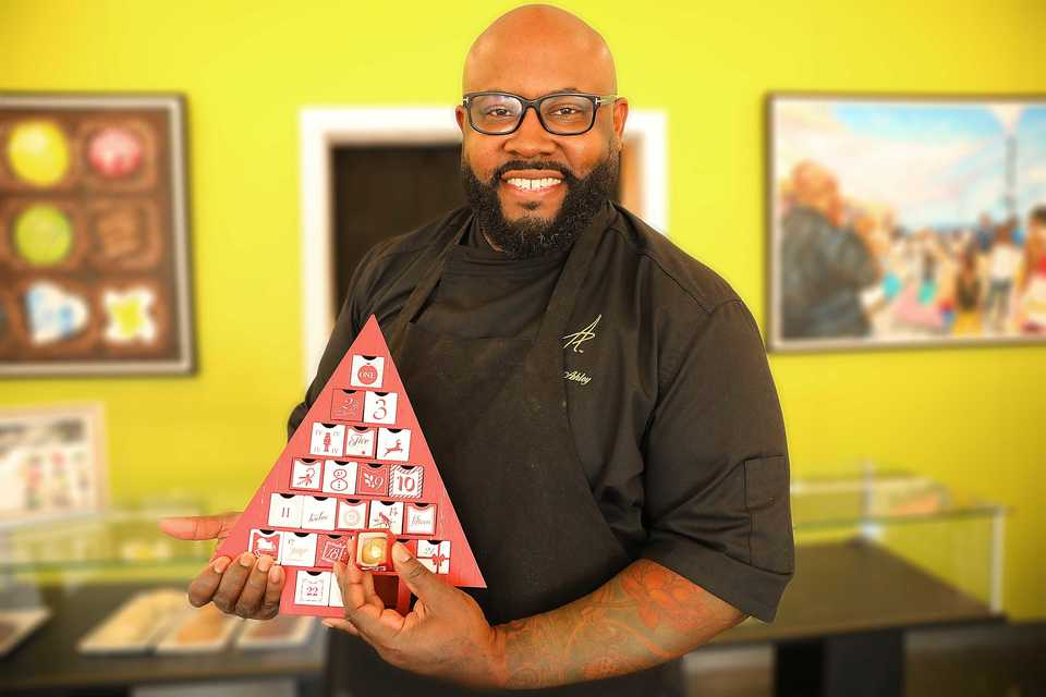 <strong>For the first time, chocolatier Phillip Ashley Rix is offering a chocolate Advent calendar. </strong>(Patrick Lantrip/Daily Memphian)