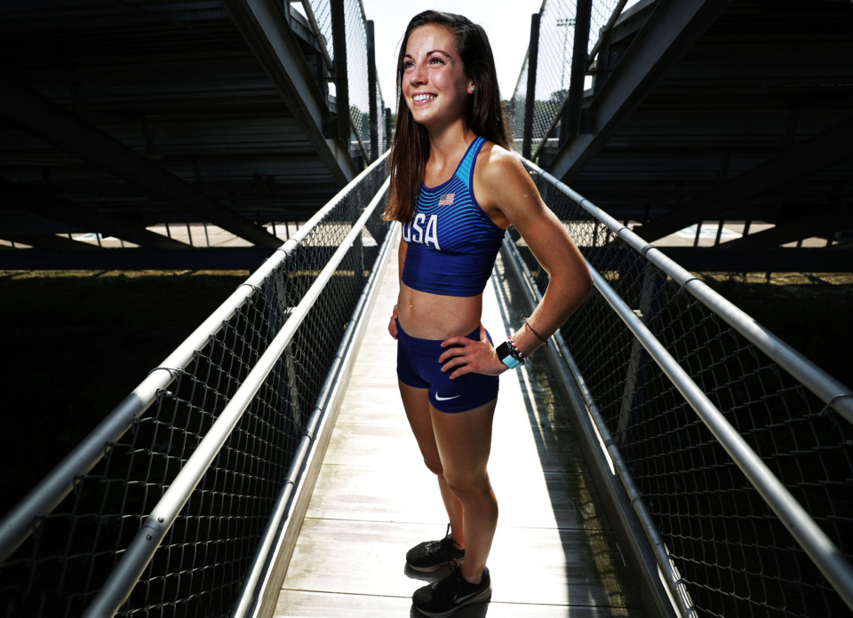 <strong>Former Briarcrest distance runner Meghan Underwood, who now competes for Arkansas, has qualified for the Junior Pan-Am Games and will be leaving soon for Central America.</strong> (Jim Weber/Daily Memphian)