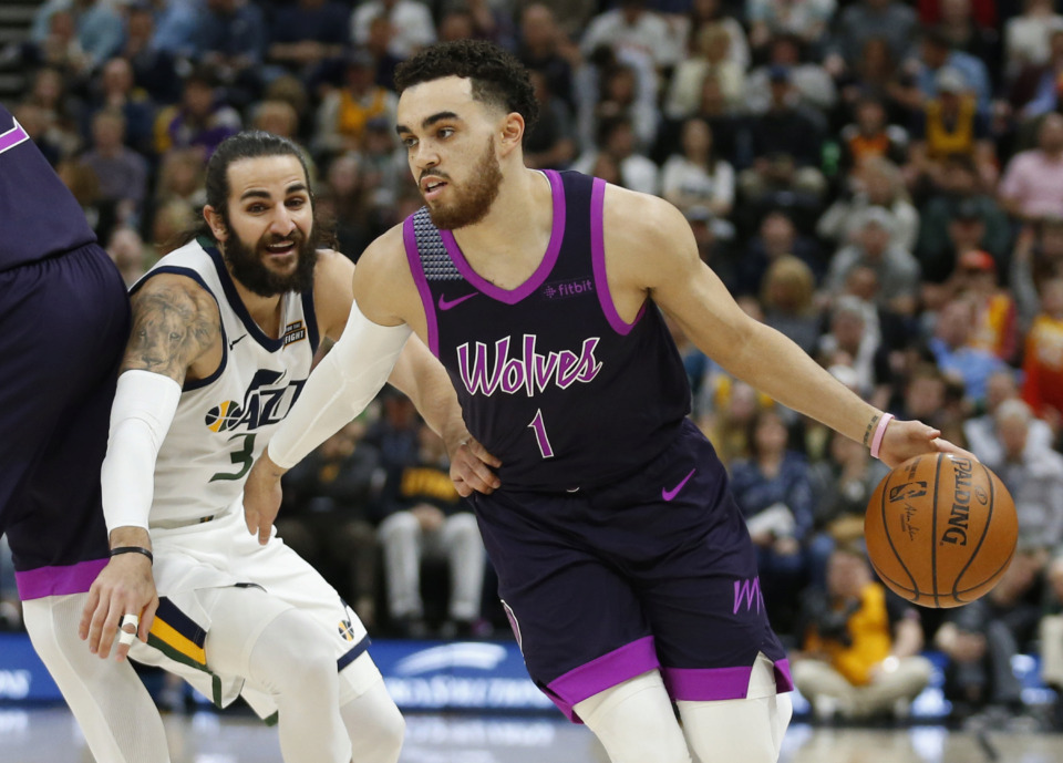 <strong>Tyus Jones, 23, signed to a three-year deal, will be the closest thing the Grizzlies have to a veteran point guard as No. 2 overall pick Ja Morant develops.</strong>&nbsp;(AP Photo/Rick Bowmer)