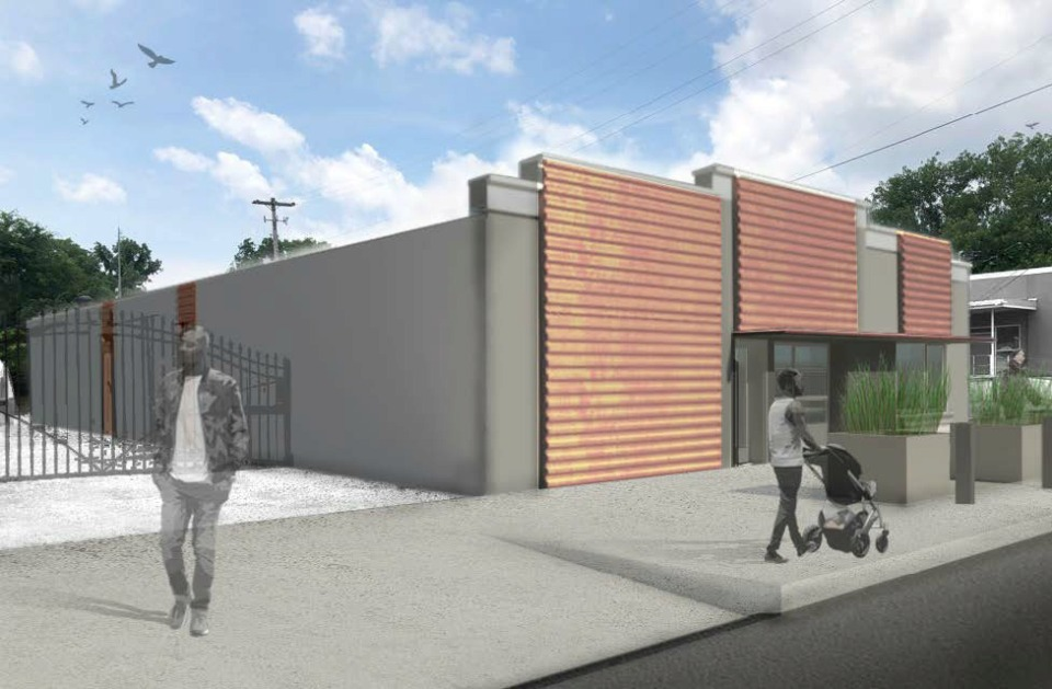 """<strong>An artist's rendering by UrbanArch Associates shows The Cupboard Restaurant's proposed """"Express Grab &amp; Go"""" storefront at 169 Carolina. The building houses the restaurant's catering division and its shipping and receiving office.&nbsp;</strong>(UrbanArch via Center City Development Corp.)"""