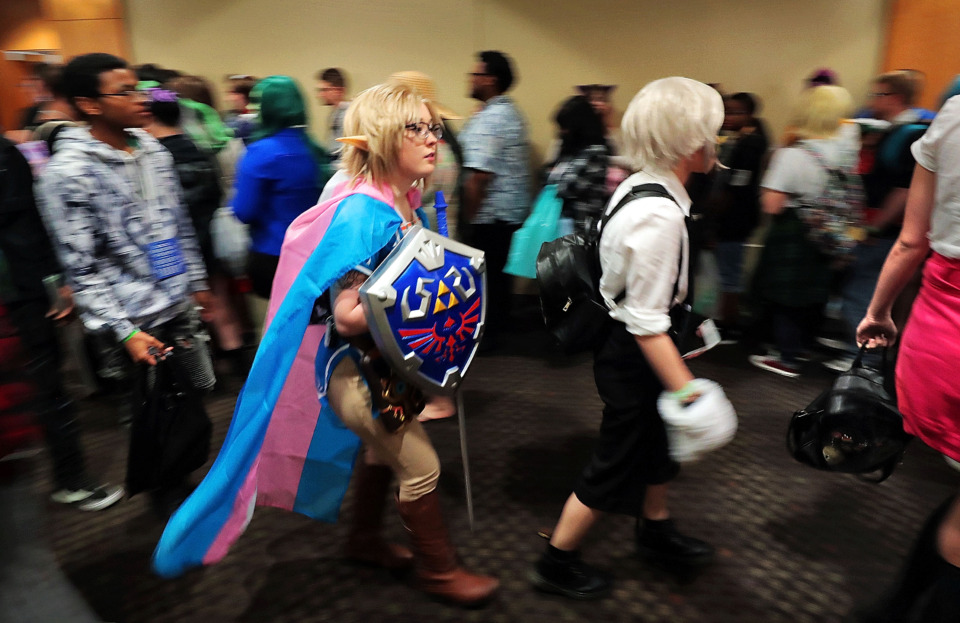 <strong>Anime enthusiasts shuffle between venues on the first day of Anime Blues Con 9 at the Memphis Convention Center on Friday, July 12.&nbsp;The event runs through Sunday.&nbsp;</strong>(Jim Weber/Daily Memphian)