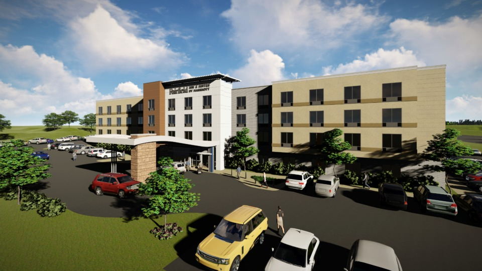 <strong>Arlington&rsquo;s first hotel, a $14 million, 110-guestroom Fairfield Inn &amp; Suites, and a $4 million Sentry Self Storage facility will be the first two construction projects to anchor the new Arlington Trails Planned Development on the southwest corner of I-40 and Airline Road.</strong>(Courtesy of Milton Grant)