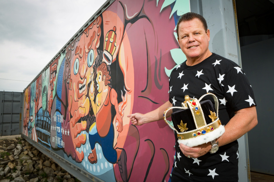 """<strong>Memphis wrestling king Jerry Lawler will join referee Jerry Calhoun to share behind-the-scenes takes on wrestling and Memphis memories at """"The Jerry &amp; Jerry Show"""" Sunday at King Jerry Lawler's Hall of Fame Bar &amp; Grille.&nbsp;</strong>(Daily Memphian file)"""
