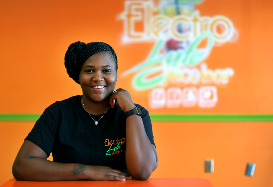 <strong>Quavisa Henderson opened her first ElectroLyfe Juice Bar in Whitehaven in January 2018, and she will open a second one soon in Parkway Village.</strong> (Patrick Lantrip/Daily Memphian)