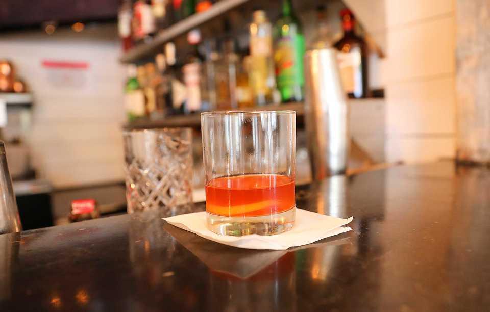 <strong>Hog &amp; Hominy bartender Tierra Pratcher created a Chinese 5-Spice Sazerac.</strong>&nbsp;(Patrick Lantrip/Daily Memphian)