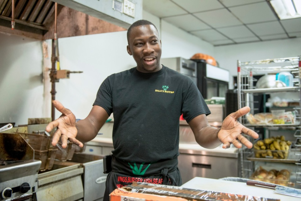 <strong>Bala Tounkara, owner of Bala's Bistro, was raised in West Africa and has Malian, Mauritanian and Senegalese heritage. He opened his restaurant in May in Whitehaven.</strong> (Brandon Dill/Special to The Daily Memphian)