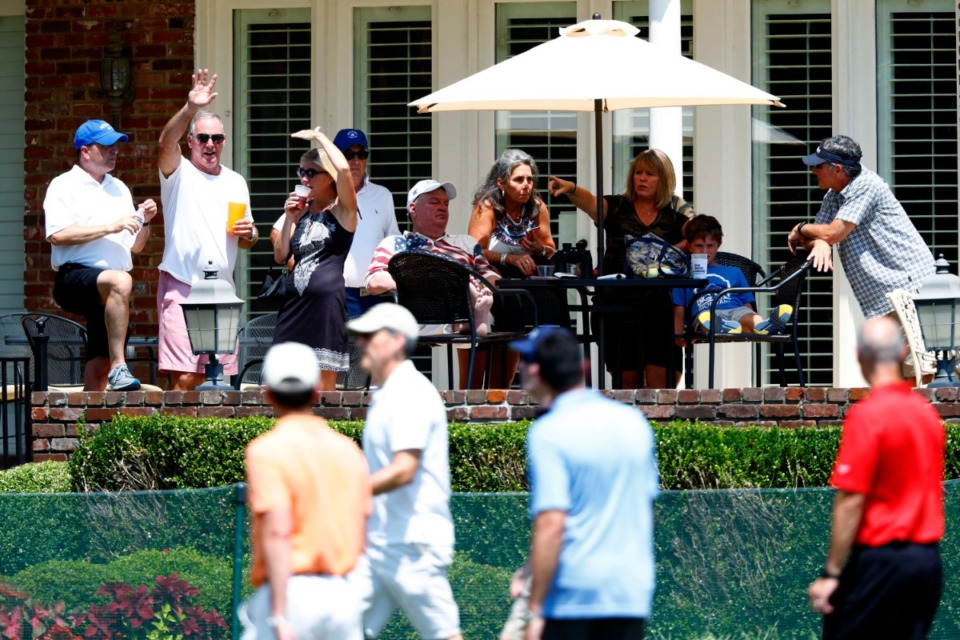 <strong>Green Mountain Technology recently purchased a home along the first fairway of TPC Southwind for guests to relax and watch the 2019 WGC-FedEx St. Jude Invitational.</strong> (Houston Cofield/Special to the Daily Memphian)