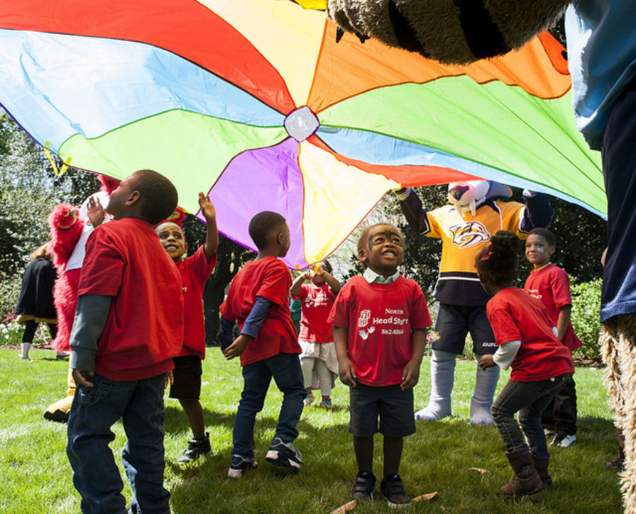 <span><strong>Children in Head Start programs in Nashville enjoy games on the lawn of the governor's mansion in 2017. Tennessee is putting more emphasis on pre-K as a key to reaching statewide reading goals.</strong> (Photo courtesy of Tn.gov)</span>