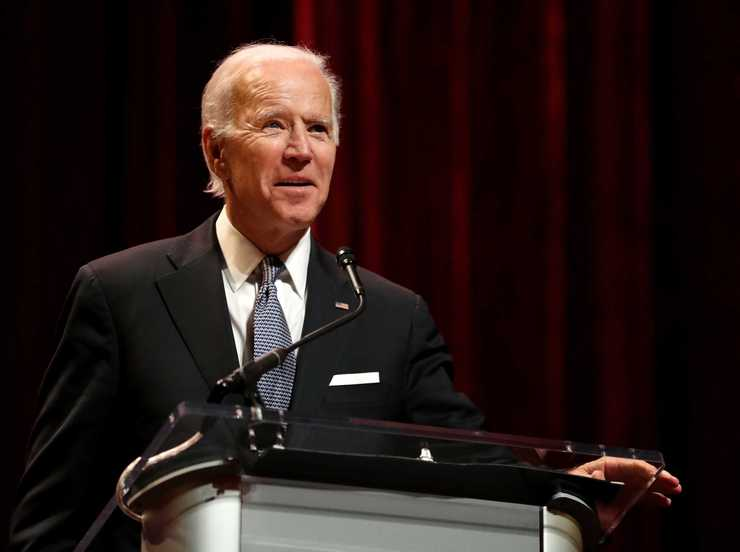 <strong>Former vice president Joe Biden speaks to a sold-out audience in the Orpheum during the National Civil Rights Museum's 2018 Freedom Awards.&nbsp;</strong>(Houston Cofield/Daily Memphian)
