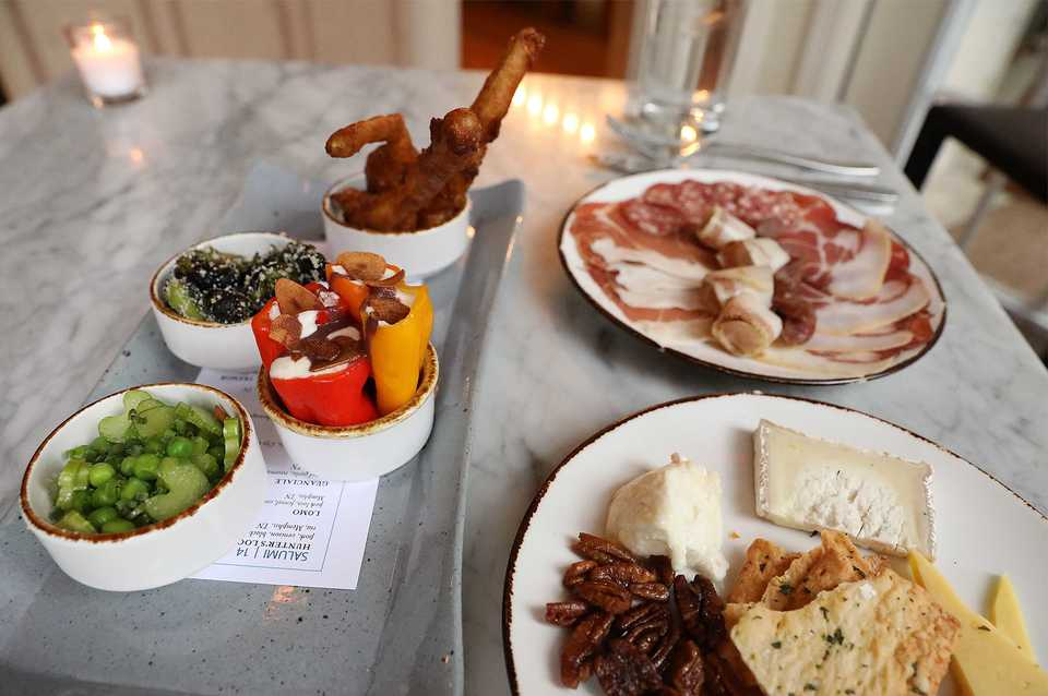 <strong>The tavolo menu features the Grande Tavolo with salumi, formaggi and giardini.</strong> (Patrick Lantrip/Daily Memphian)