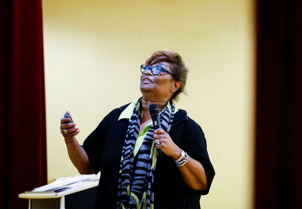 """<strong>&ldquo;My goal was to inform them about services they can take advantage of and programs in which the Chamber is engaged,&rdquo; said Beverly Robertson,&nbsp;president and CEO of the Greater Memphis Chamber, after a """"Taking it to the Streets"""" meeting at the Orange Mound Community Center Tuesday, Aug. 13, 2019. &ldquo;... And to serve as the voice of business so that people understand that business is their friend, is their employer, is the creator of opportunity, is the creator of jobs. And it is not the enemy.&rdquo; </strong>(Mark Weber/Daily Memphian)"""