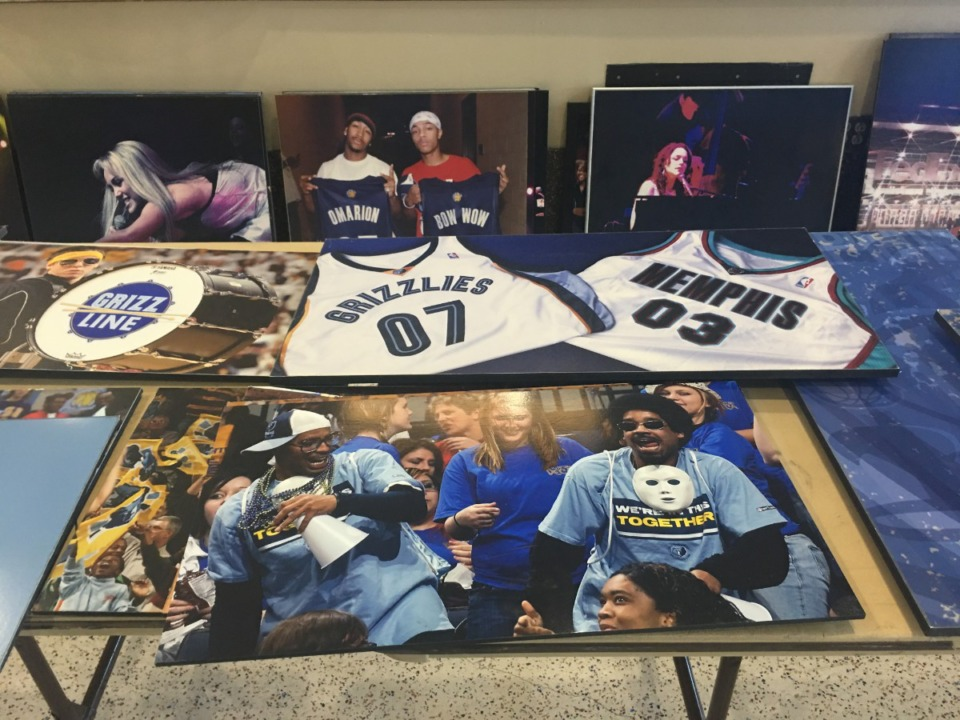 Some items available at the &ldquo;Grizzlies Garage Sale,&rdquo; where the Memphis Grizzlies clean out their storage to benefit St. Jude Children&rsquo;s Research Hospital. <strong>(Chris Herrington/The Daily Memphian)</strong>