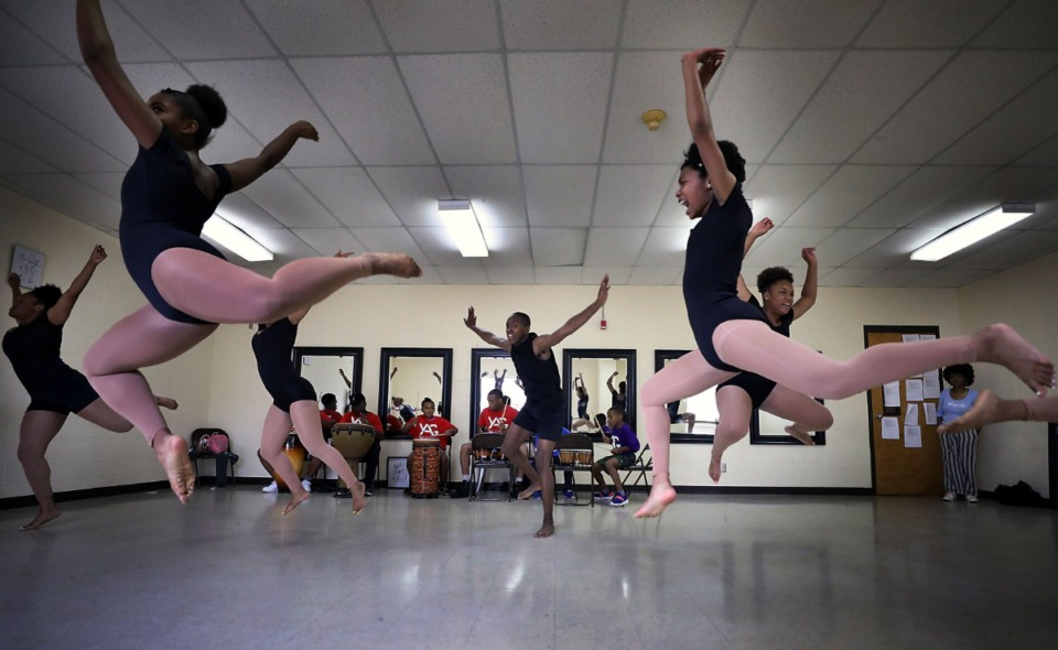 <strong>Young Actors Guild dancers rehearse</strong> <strong>July 15 at Capleville United Methodist. The city of Memphis sold for $1 a former Orange Mound fire station to the organization, which broke ground in July on renovations for what will be the Harriet Performing Arts Center.&nbsp;</strong>(Patrick Lantrip/Daily Memphian file)