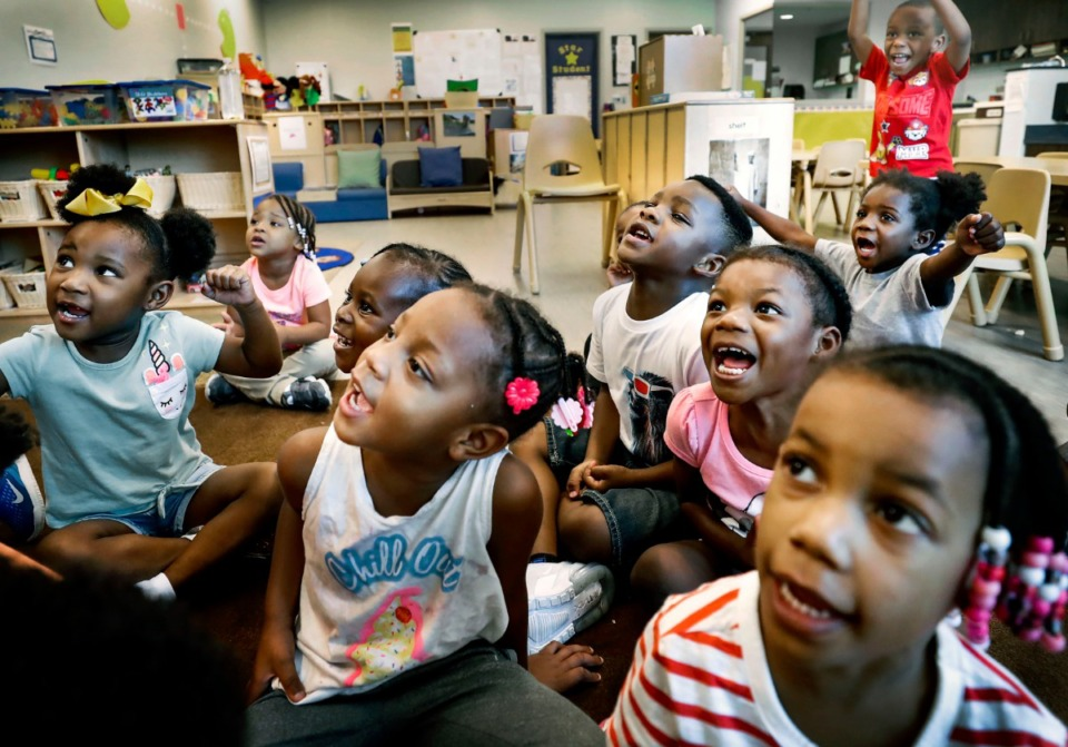 <strong>Porter-Leath Early Childhood Academy Head Start students say their ABCs during class Aug. 30, 2019. Porter-Leath is one of the nonprofit agencies that has received Community Foundation grants over the years.&nbsp;</strong>(Mark Weber/Daily Memphian)