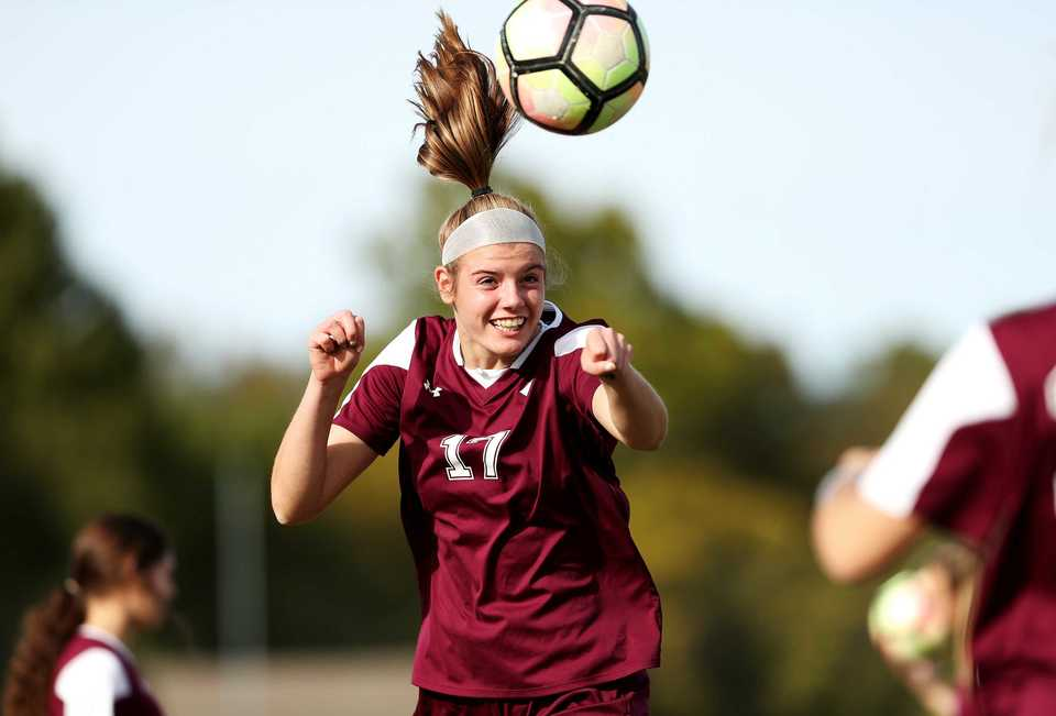 <strong>Elizabeth Slavinsky scored both of the goals in last week's sectional match against Henry County that sent Collierville to the state tournament for the 14th time in school history. </strong>(Houston Cofield/Daily Memphian)