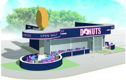 <strong>An architectural rendering shows that the design of the future donut shop at 1776 Union leaves little doubt what is sold inside.</strong> (Loeb Properties)