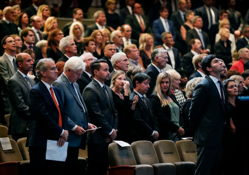 <strong>Family and friends attend the funeral of local restaurateur Nick Vergos at Hope Church Sept. 9, 2019.</strong> (Mark Weber/Daily Memphian)