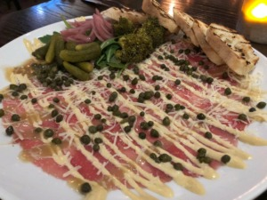 <strong>Beef carpaccio is a year-round dish on the menu at Sweet Grass.</strong> (Jennifer Biggs: Daily Memphian)