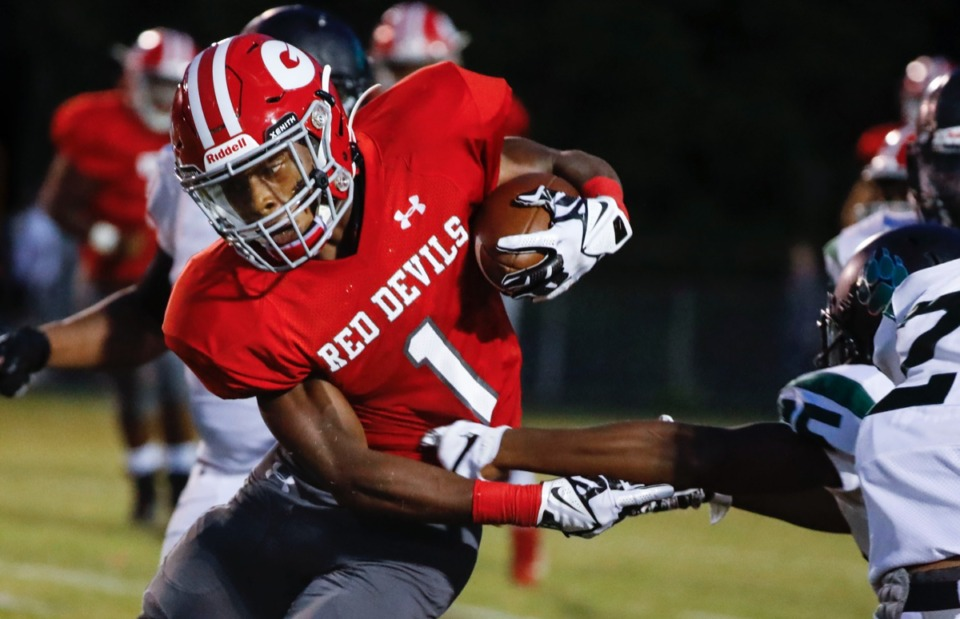 <strong>Running back T.J. Dorsey and the Germantown Red Devils (1-2) will host Murfreesboro Oakland (3-0) Friday, Sept. 13.</strong> (Mark Weber/Daily Memphian)