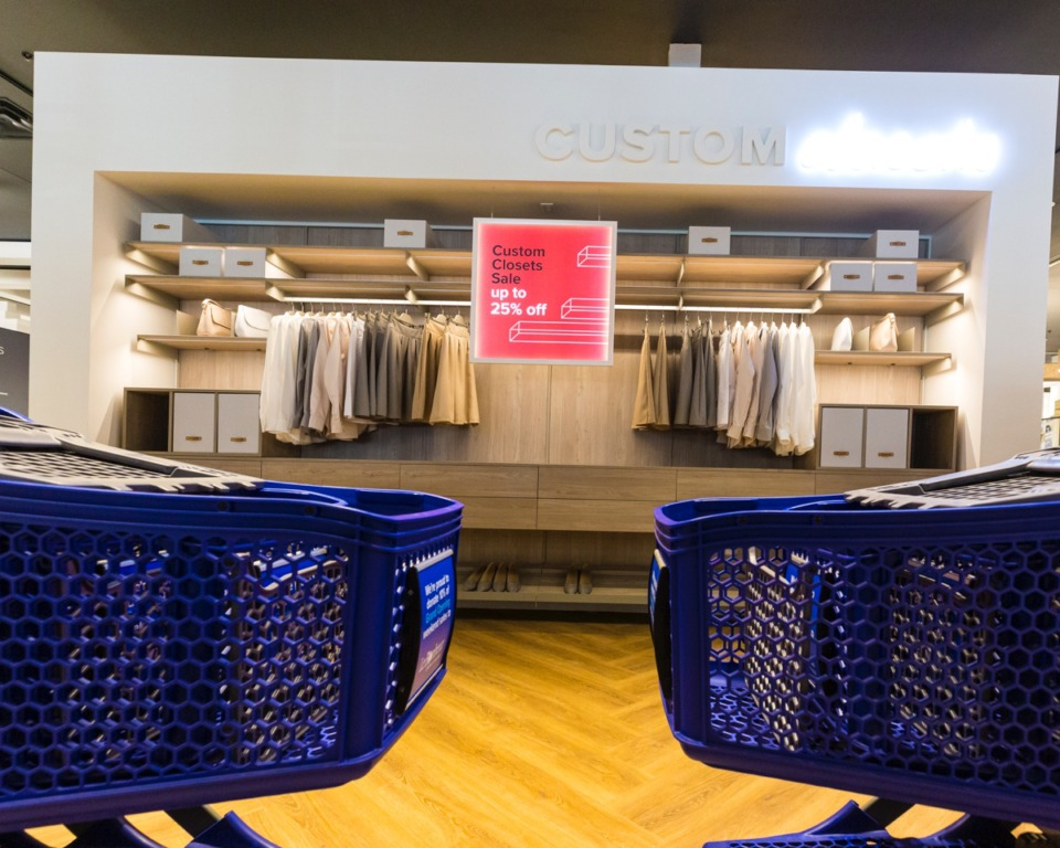 <strong>Setups inside the new Container Store in Germantown offer ways to get organized.</strong>&nbsp;(Ziggy Mack/Daily Memphian)