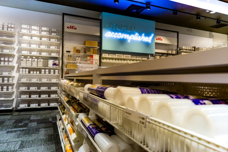 <strong>Elfa, a popular line of products, sits on the kitchen area walls at The Container Store in Germantown.</strong>&nbsp;(Ziggy Mack/Daily Memphian)