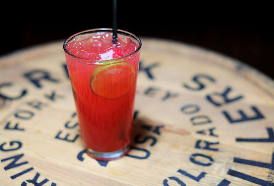 <strong>Belle Tavern's Chris Ferri conceived of the bourbon cherry limeade, a cool summer concoction served at his Barbaro Alley bar in Downtown Memphis.</strong> (Patrick Lantrip/Daily Memphian)